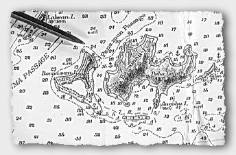 Chart of Bagaman Island in the Calvados Chain, Sudest
