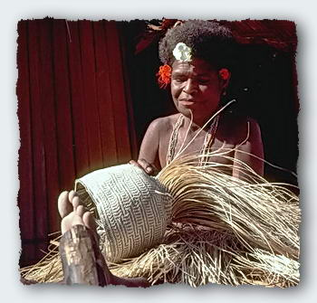 PNG women weave some of the finest baskets in the South Pacific.