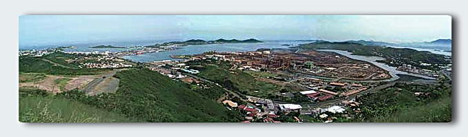 Panorama overlooking the nickel mine and Noumea.